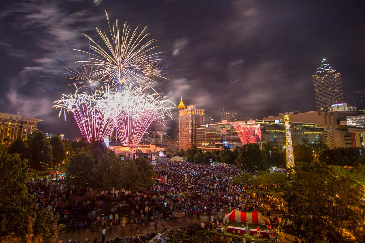 Centennial Olympic Park Fireworks
