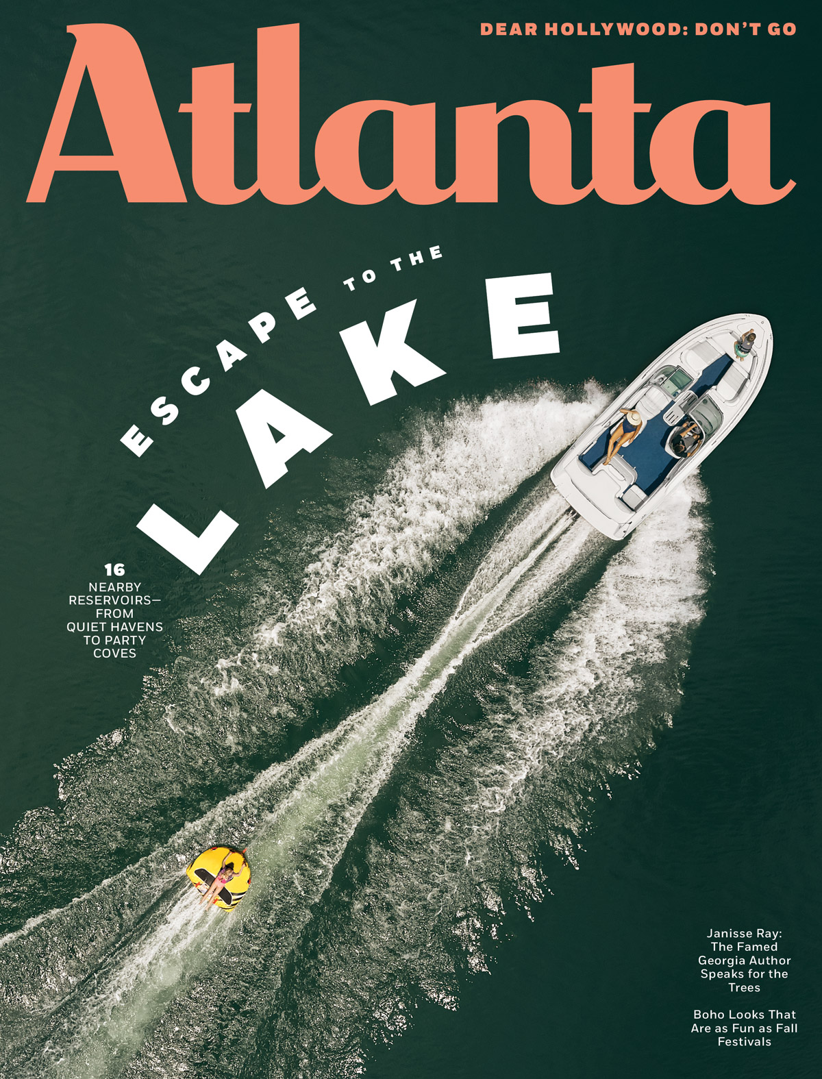 Atlanta Magazine August 2019 cover - Lakes
