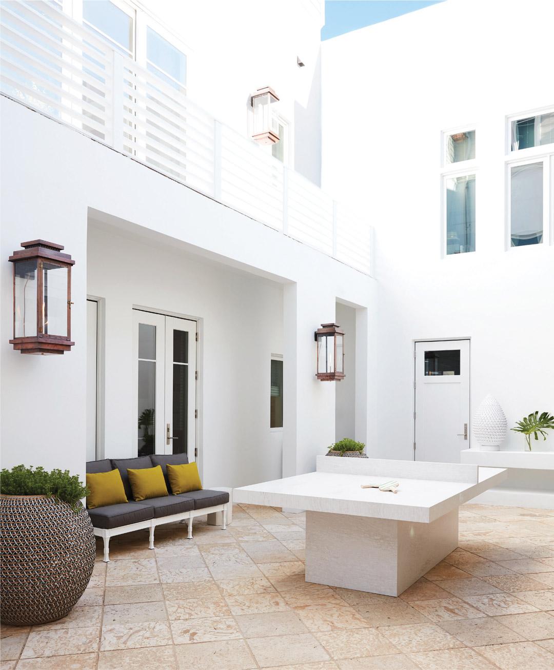 Designer Vern Yip S Georgia Home: This Courtyard In Vern Yip's Rosemary Beach Vacation House