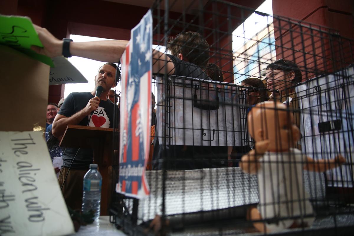 Lights for Liberty Atlanta immigration raid protest
