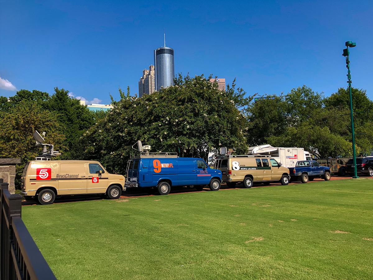 The Ballad of Richard Jewell filming Centennial Olympic Park Atlanta