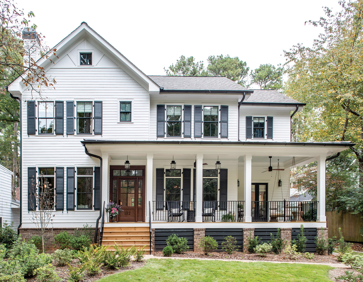 This functional decatur farmhouse fits into its historic
