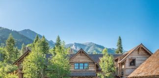 William Peace home in Tetons at Jackson hole