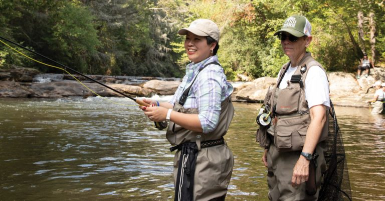 In the quiet waters of the Chestatee River, cancer survivors find peace with fly fishing
