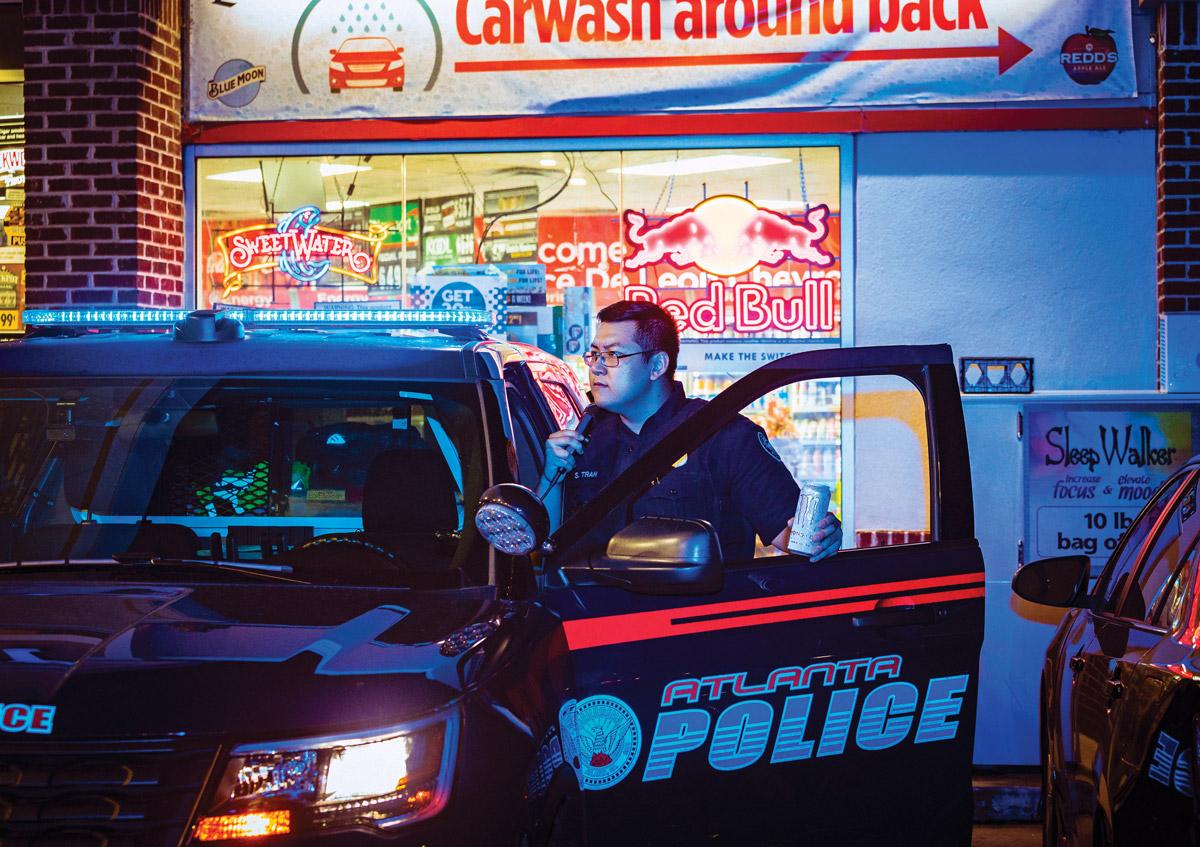Up all night: Atlanta Police Officer Son Tran
