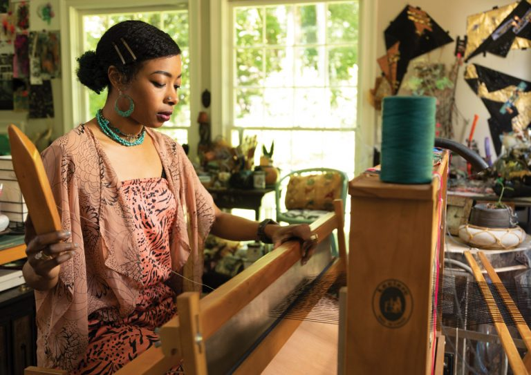 Zipporah Camille Thompson uses textiles to create cosmic connections