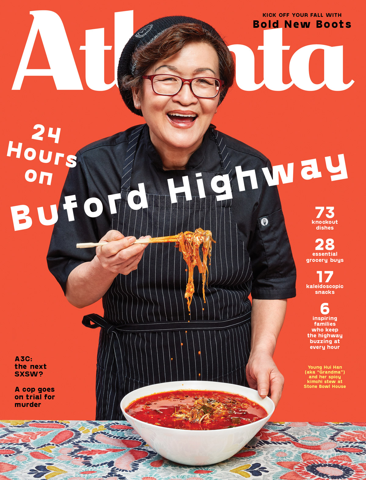 Atlanta Magazine October 2019 cover - Buford Highway