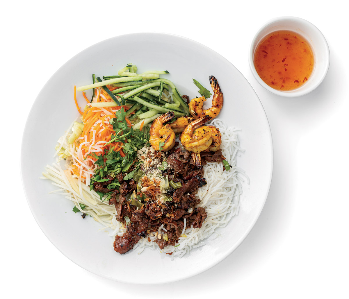 Lamb and shrimp vermicelli