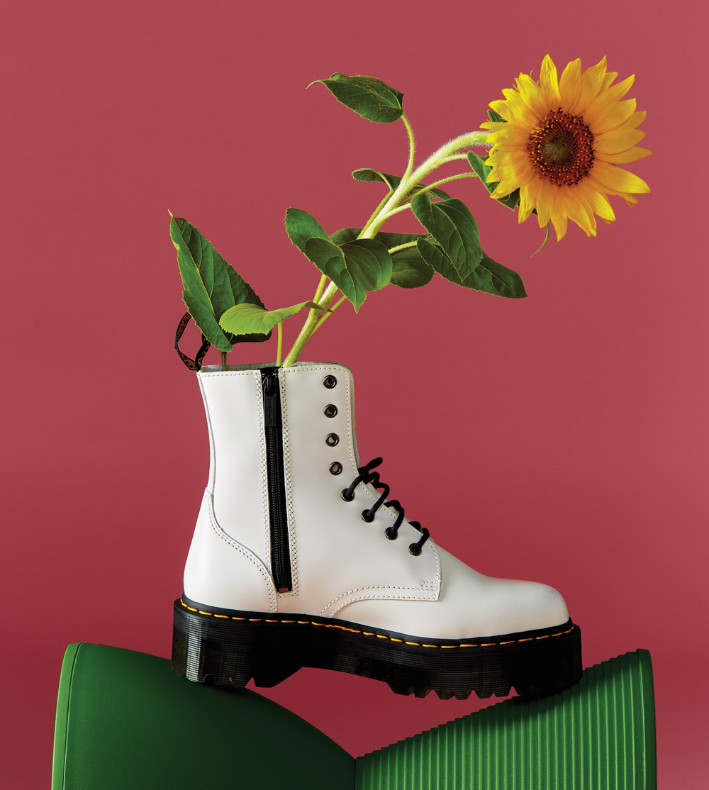 Dr. Martens white boot