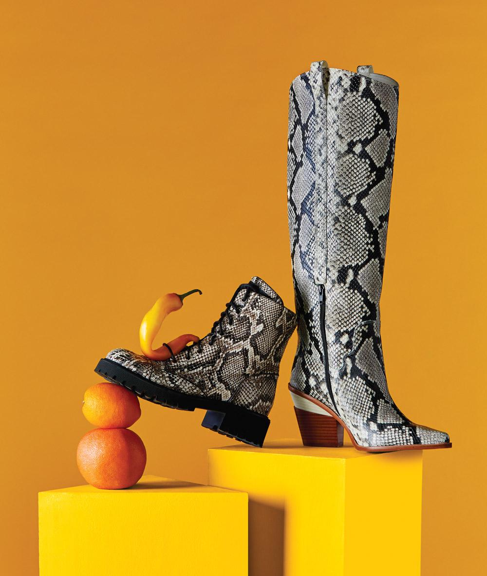 Giuseppe Zanotti and Gianni Bini silver boots
