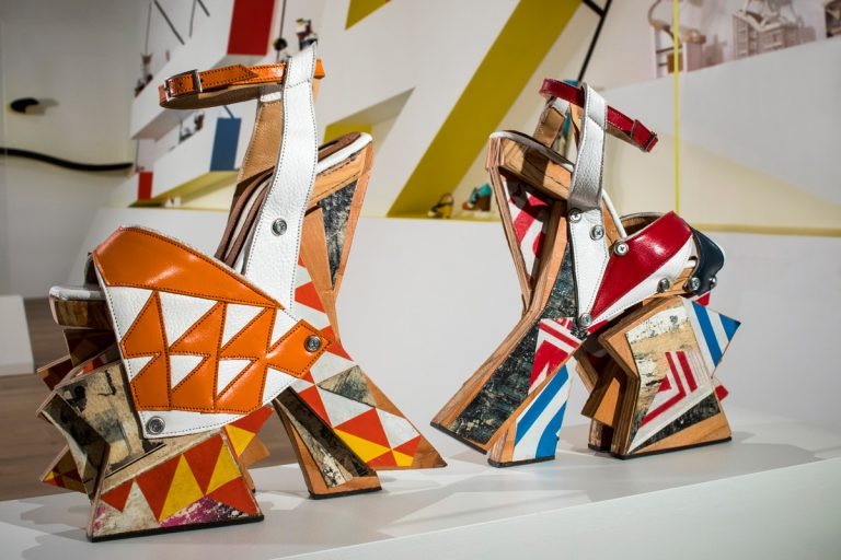 Designer Chris Francis's shoes are more art than footwear