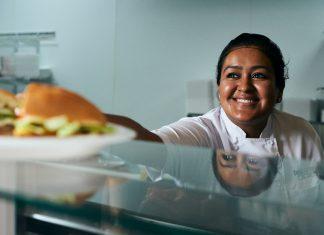 Laura Barrera in the kitchen
