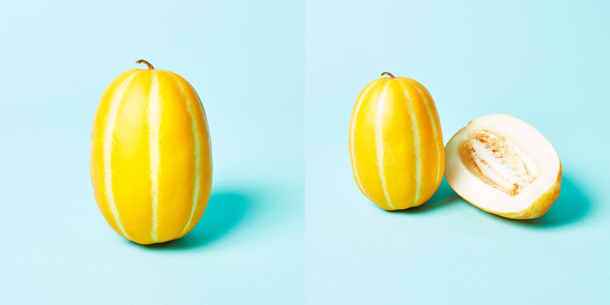 Korean Melon opened and closed