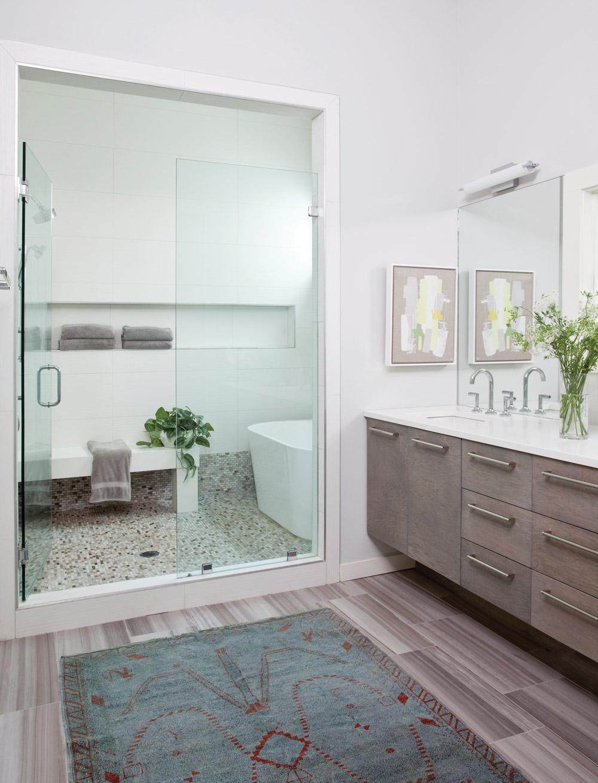 The master bathroom
