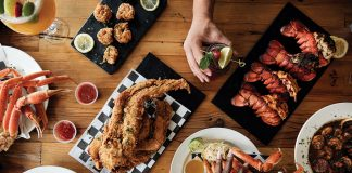 Snow crabs, king crabs, and lobster at Soul Crab