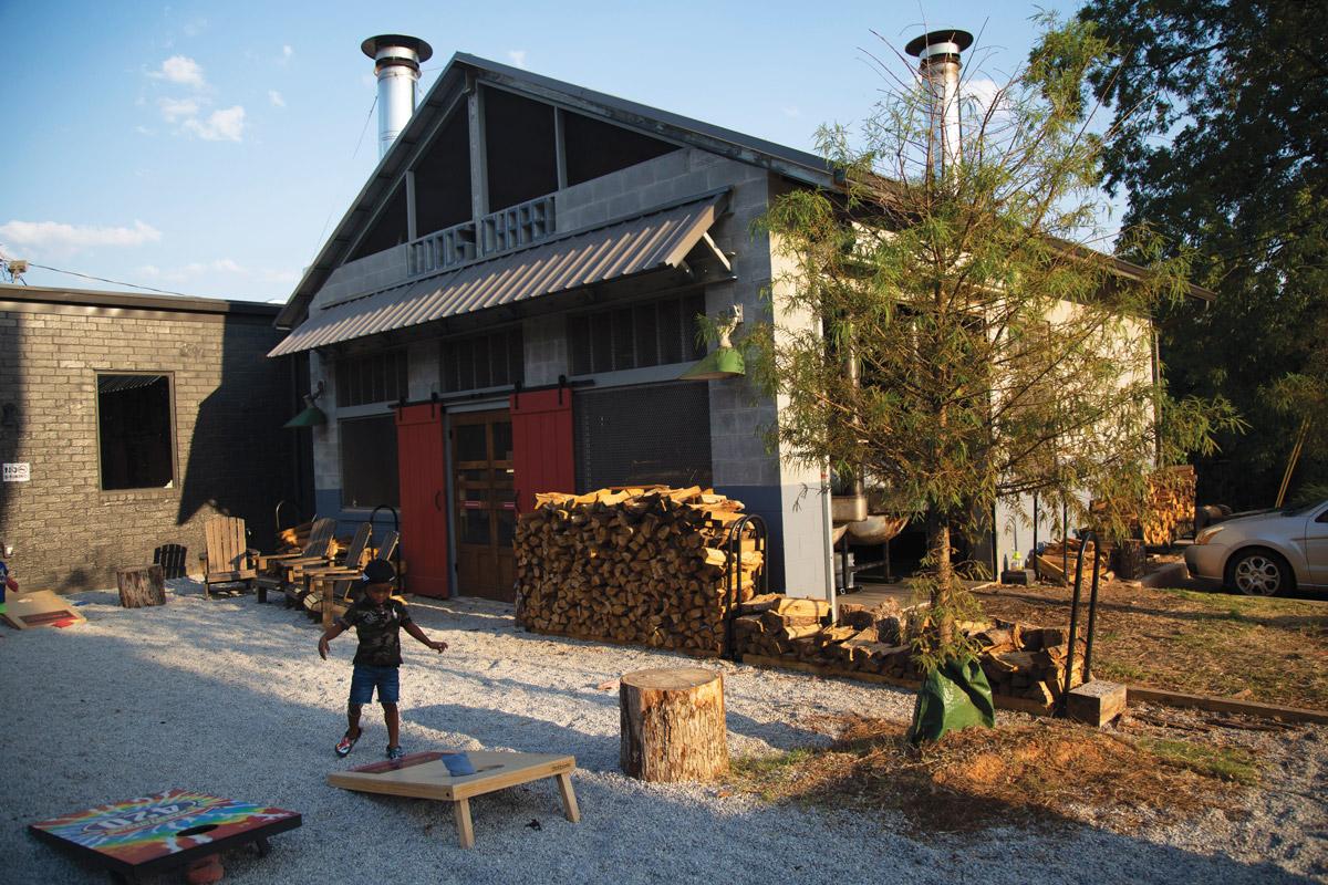 The smokehouse stoop