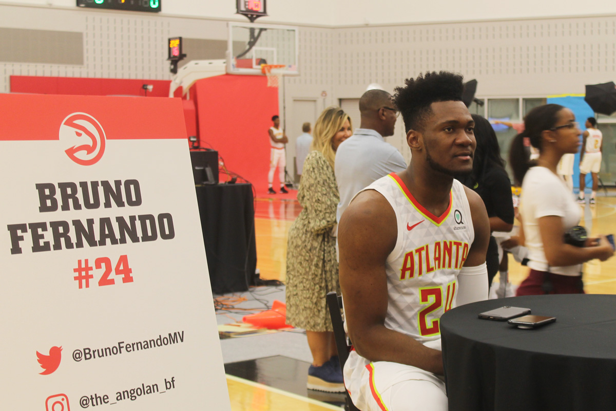 Bruno Fernando Atlanta Hawks Media Day