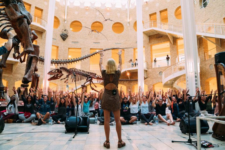 The Big Quiet brought strangers together to meditate under the Fernbank's dinosaurs