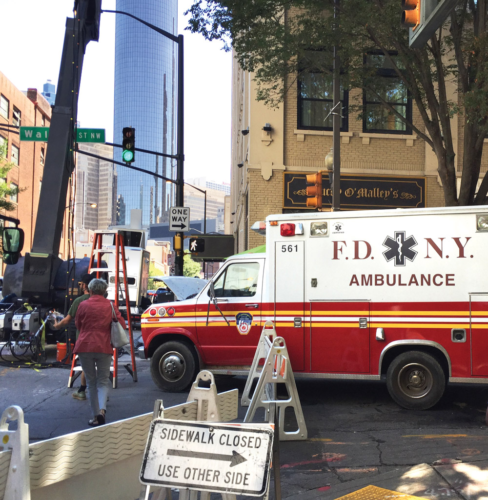 A New York City ambulance used for filming in Fairlie Poplar