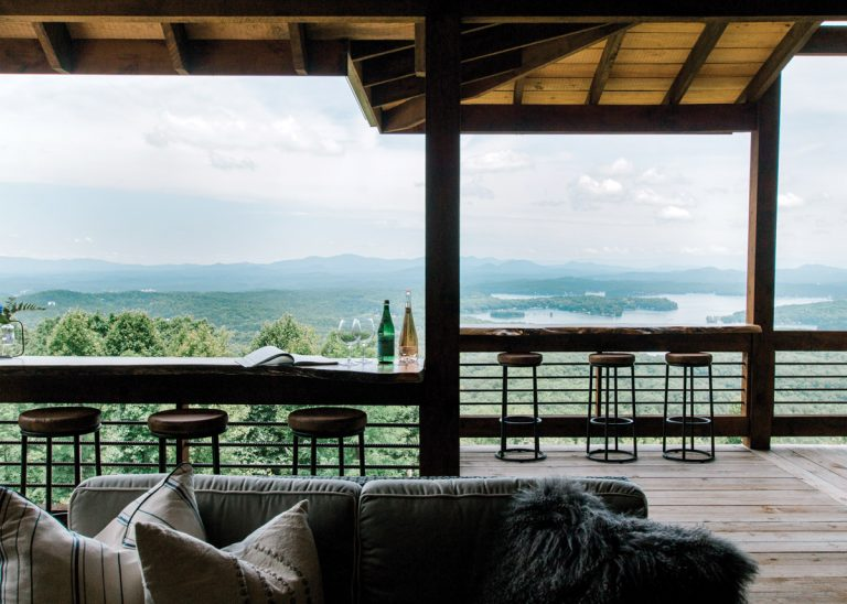 This Blue Ridge mountain retreat is both cozy and cool