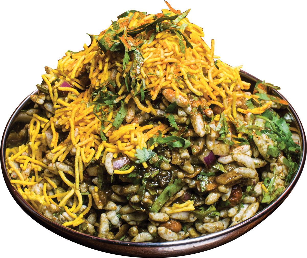 Crunchy bhel puri