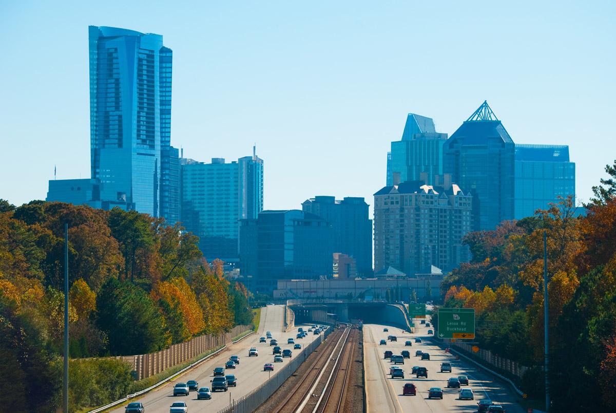 Traffic on Georgia 400