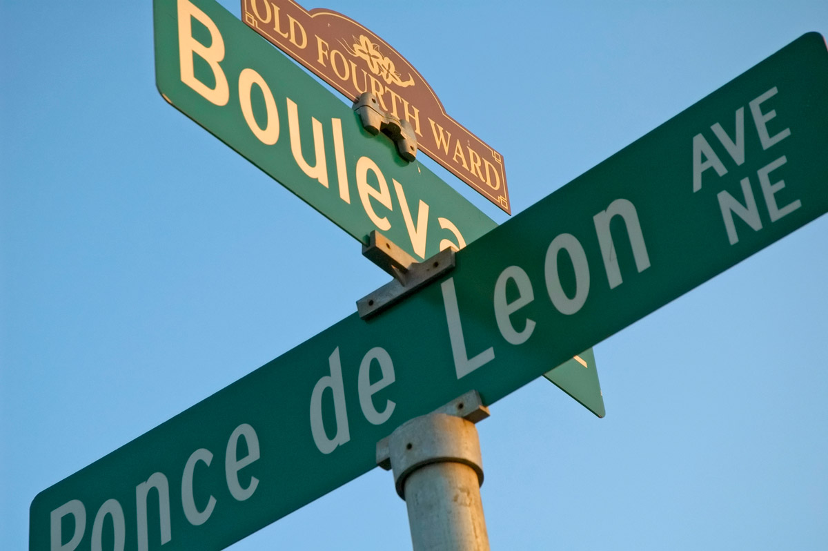 The intersection of Boulevard and Ponce de Leon Avenue