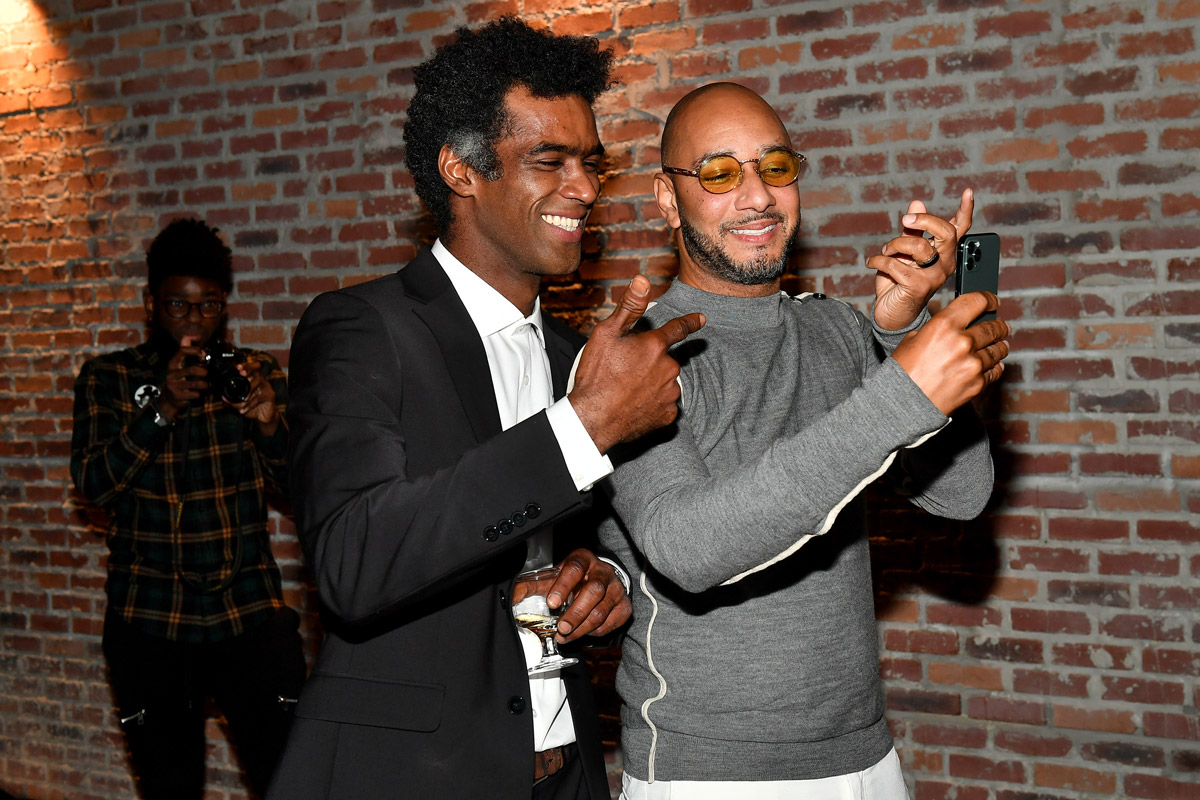 Swizz Beatz and Oriel Ceballos attend the BACARDI Rum Room
