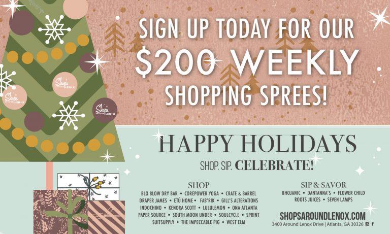 Shops Around Lenox Invites You to Shop, Sip + Celebrate Through November
