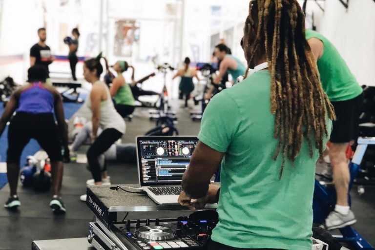 Atlanta fitness studios amp up their workouts with live DJ sets