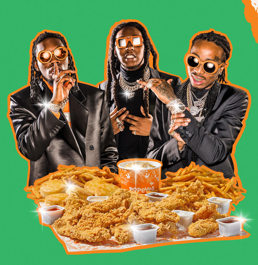 Migos Popeyes Meals UberEats