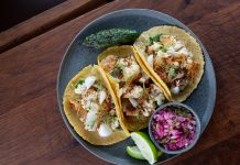 Amar Bien Roasted cauliflower taco