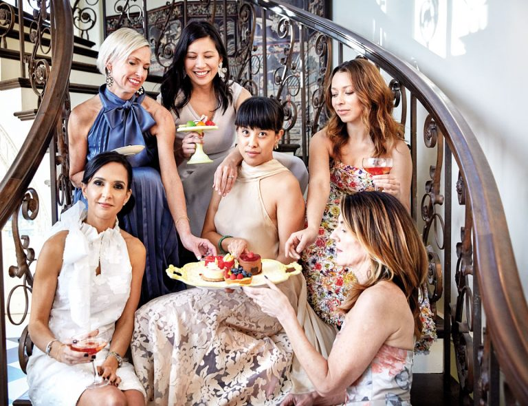 Atlanta designer Abbey Glass hosts a fun and fancy affair at the Swan House