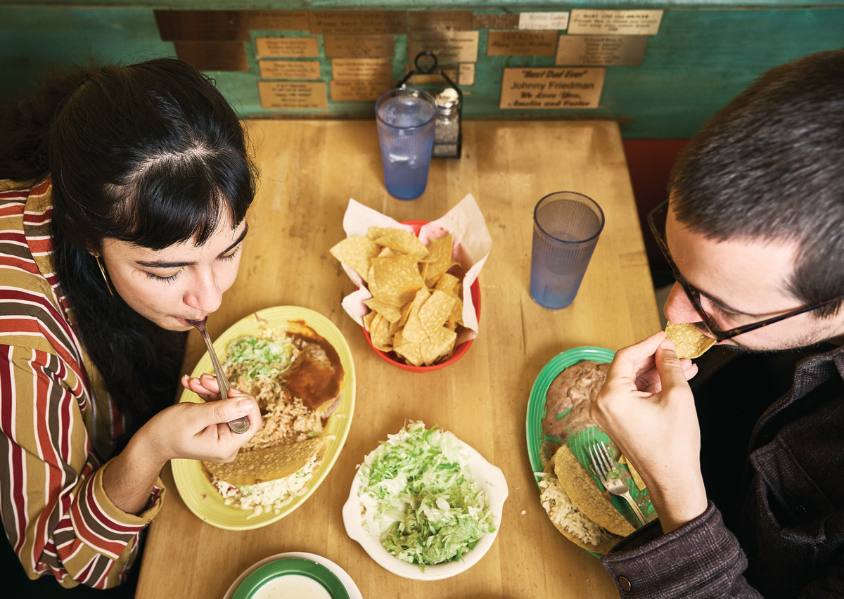 The writer and her boyfriend share what's sure to be one of many more meals at Jalisco.