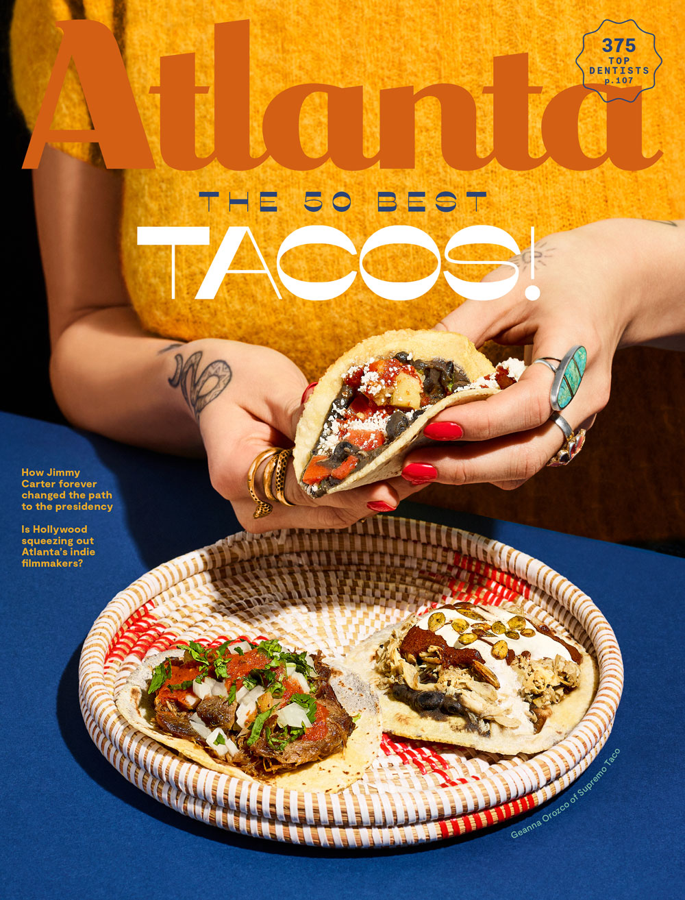 Atlanta Magazine March 2020 cover - 50 Best Tacos in Atlanta
