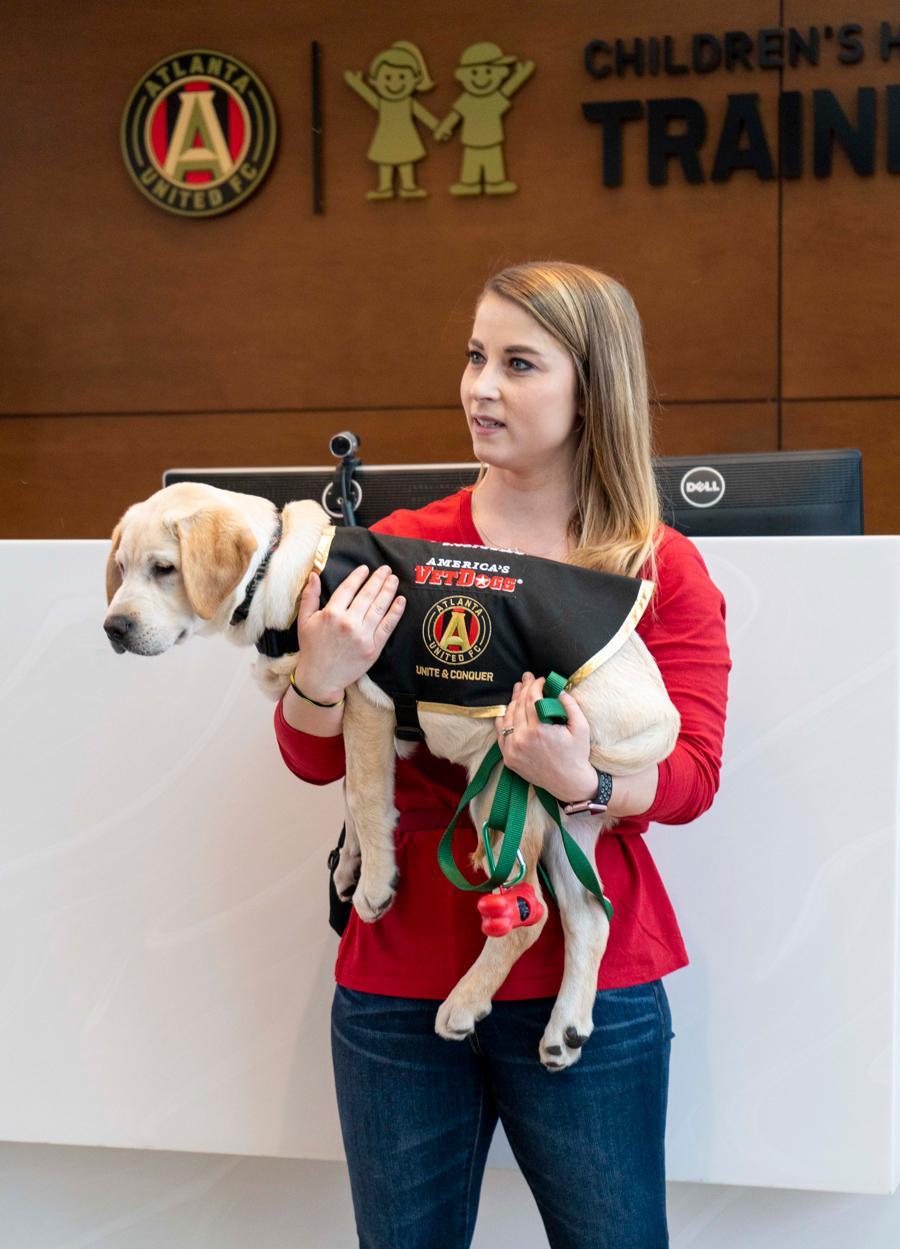 Spike Atlanta United service dog-in-training
