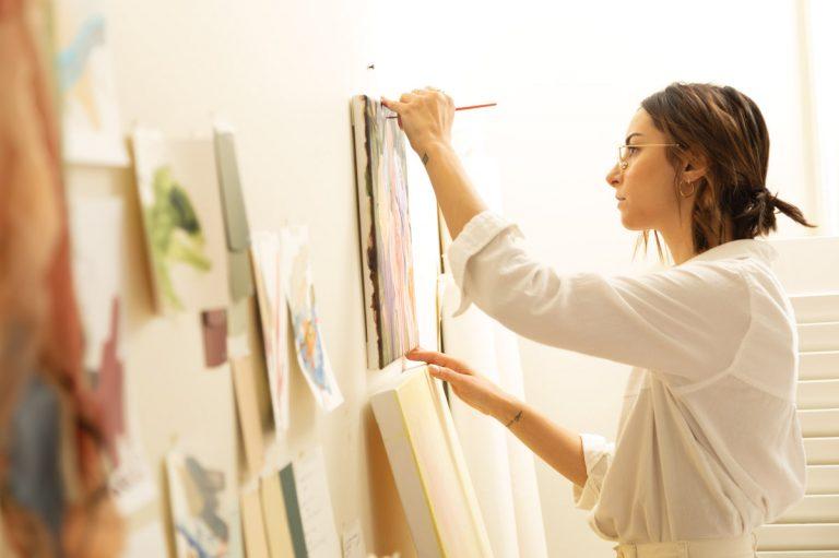 Delicacy and strength coalesce in Atlanta artist Niki Zarrabi's floral paintings