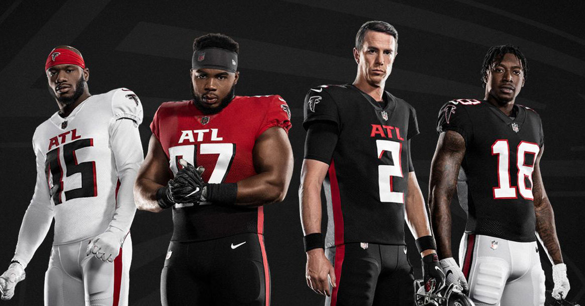 Back in black: A brief look at Atlanta Falcons uniforms throughout ...