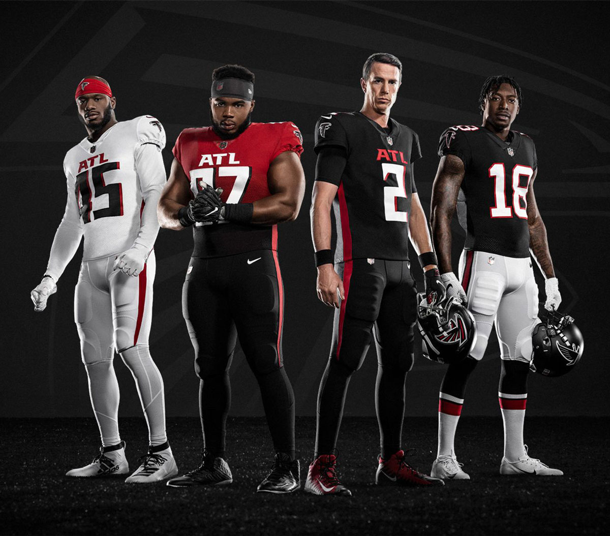 brief look at Atlanta Falcons uniforms