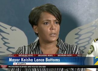 Keisha Lance Bottoms Mayor Speech Atlanta protest