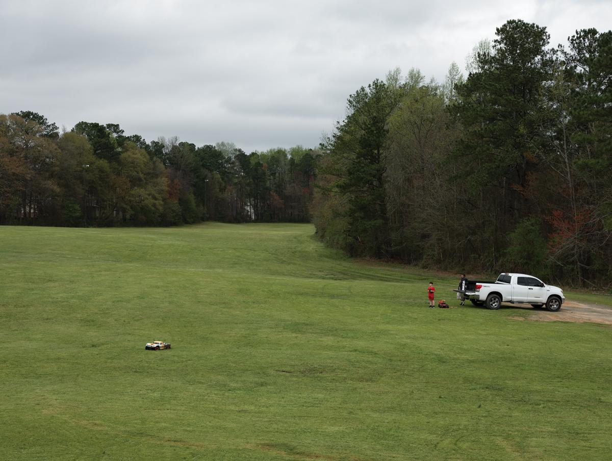 Driving an RC car in an open field