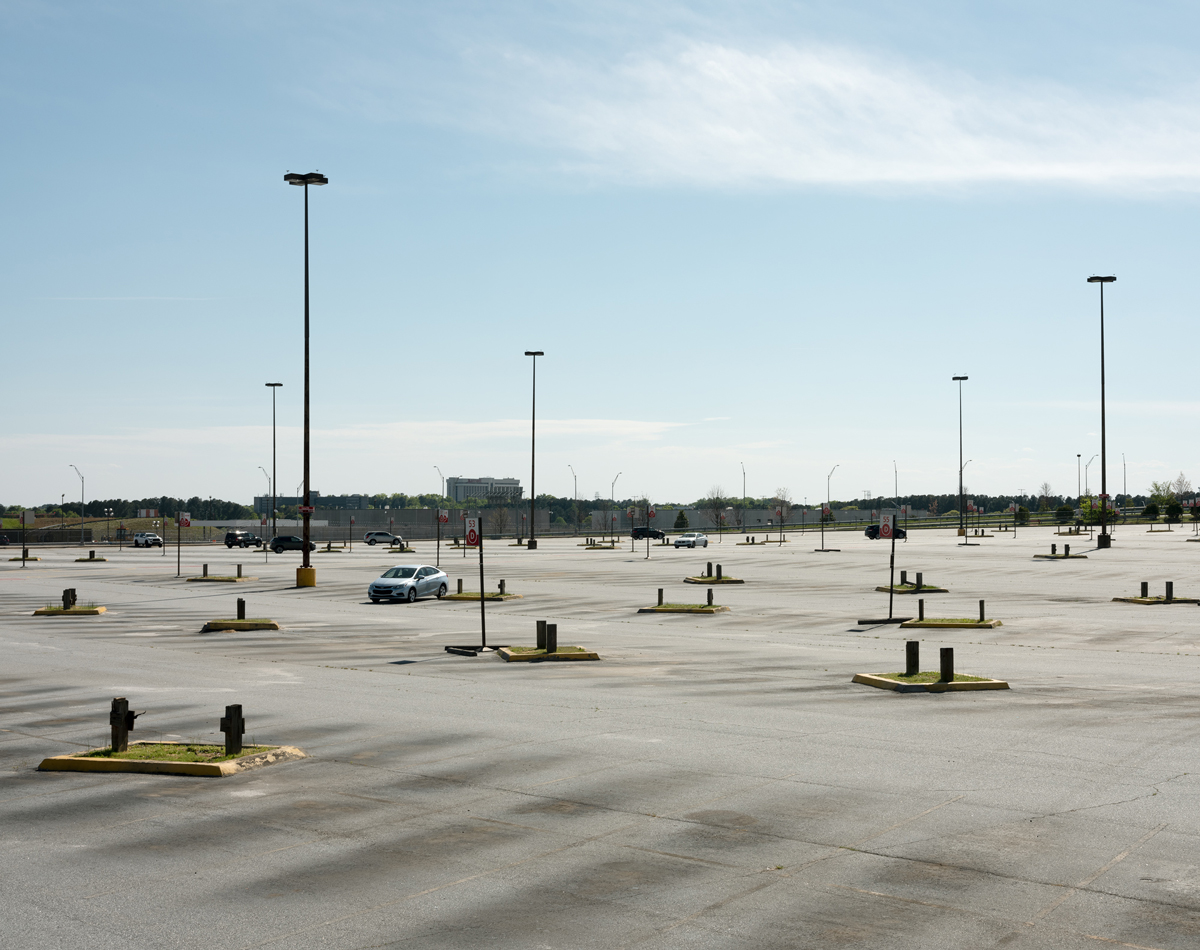 South Terminal parking at Hartsfield-Jackson Airport sits mostly empty on a Saturday afternoon.