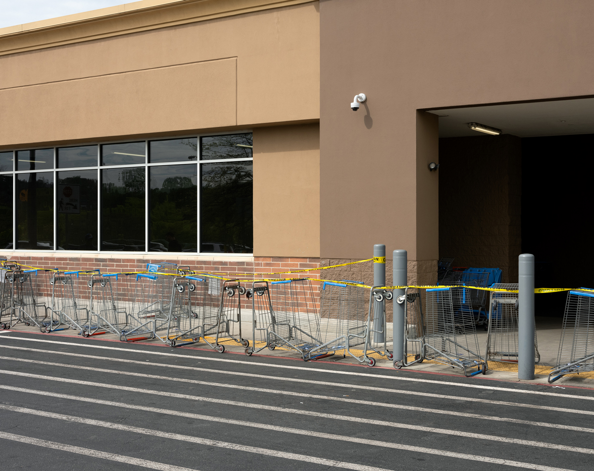 An entrance to a Walmart Supercenter at 2795 Chastain Meadows Pkwy in Marietta, GA.