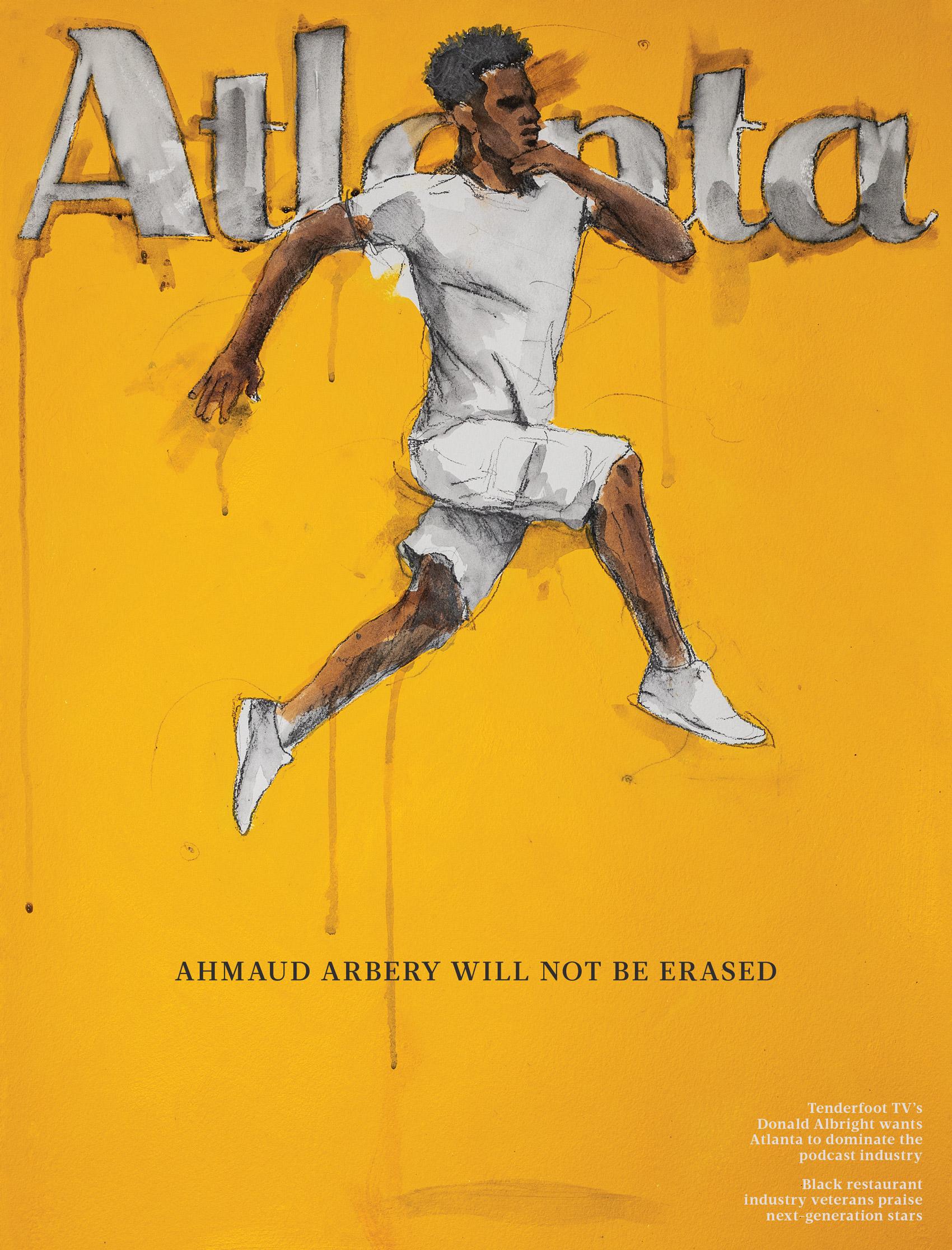 Atlanta Magazine August 2020 cover Ahmaud Arbery Fahamu Pecou