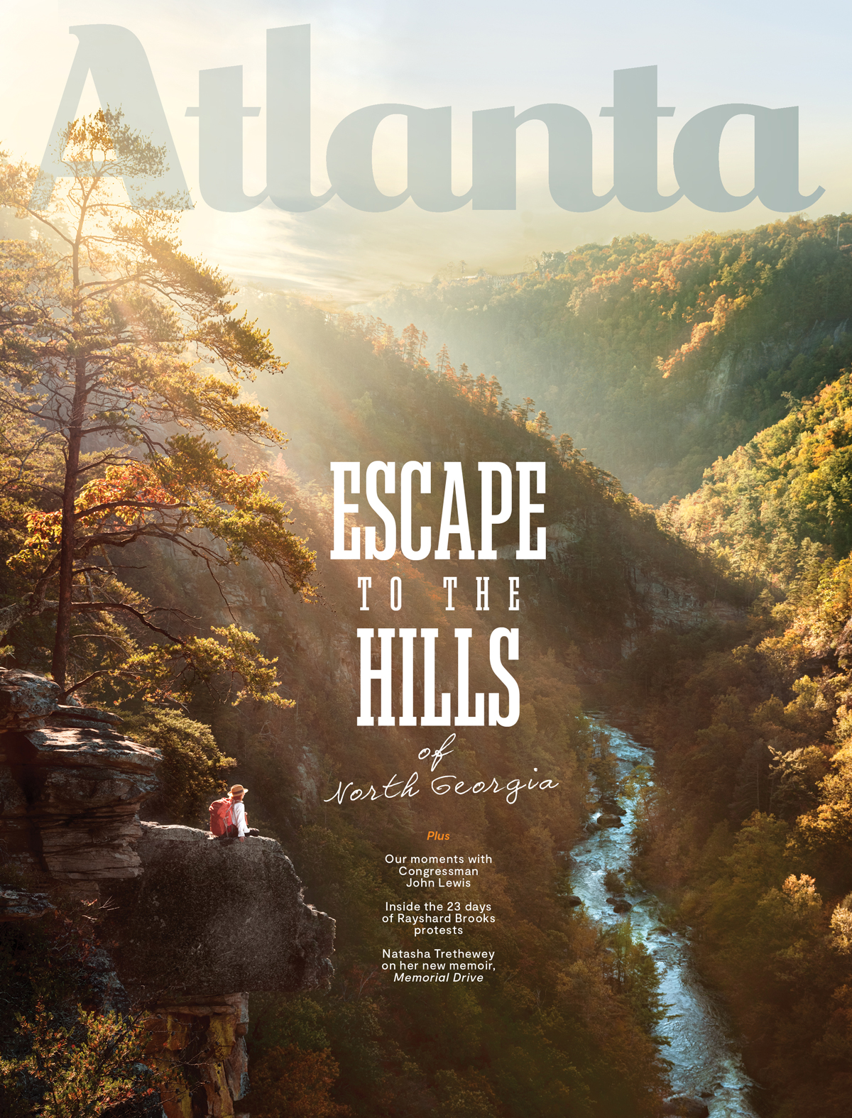 Atlanta Magazine September 2020 cover - mountains