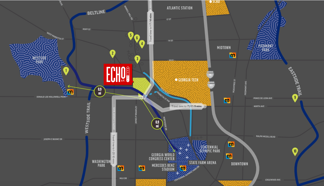 Echo Street West map