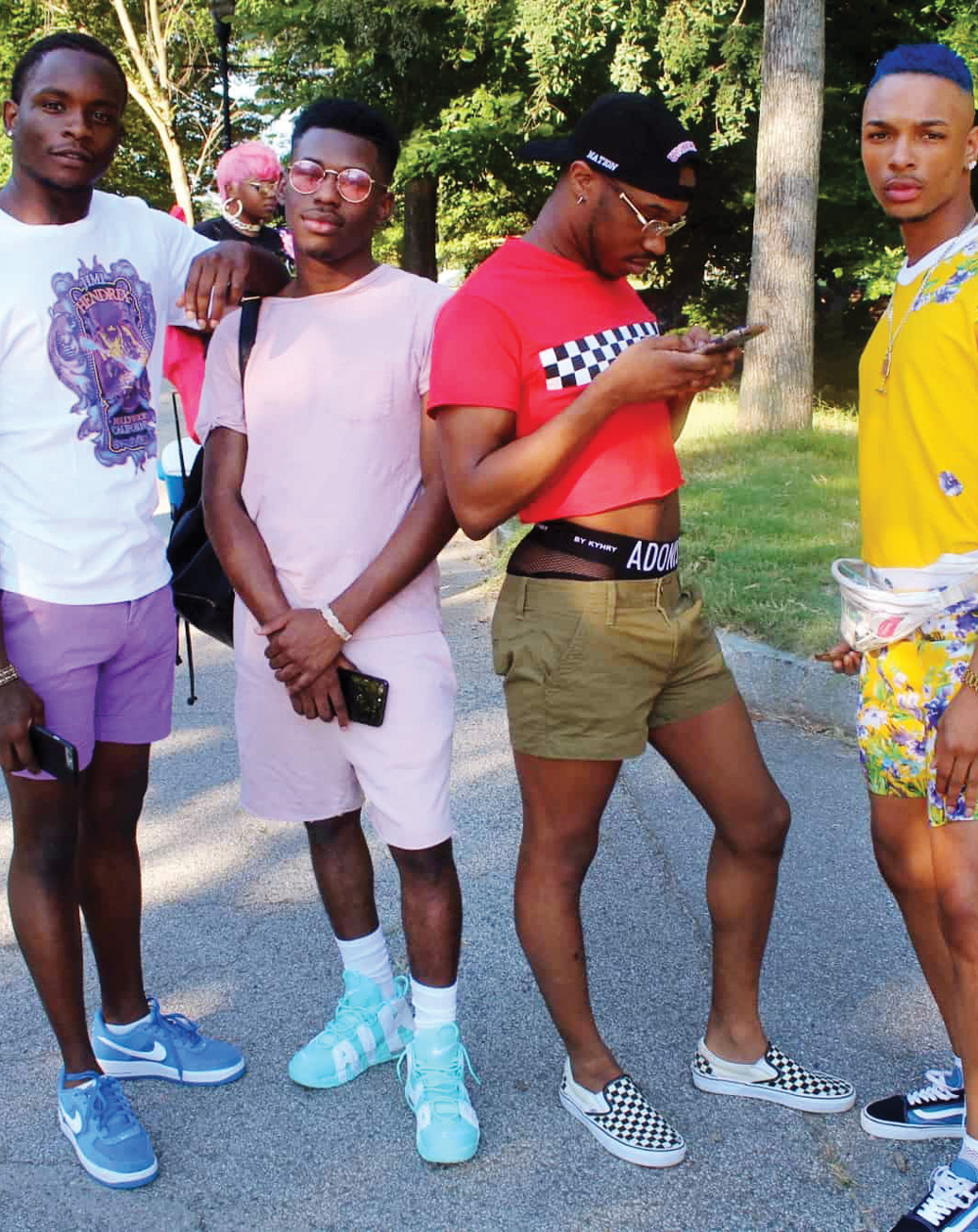 Men at a Black Gay Pride event