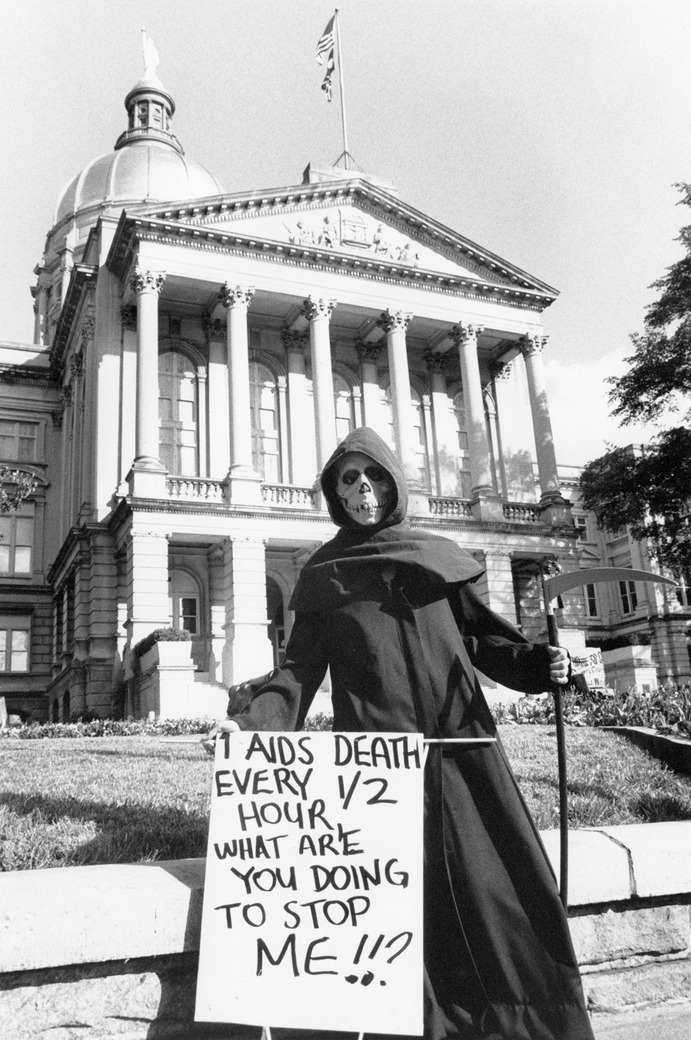An act up protest at the Georgia State Capitol