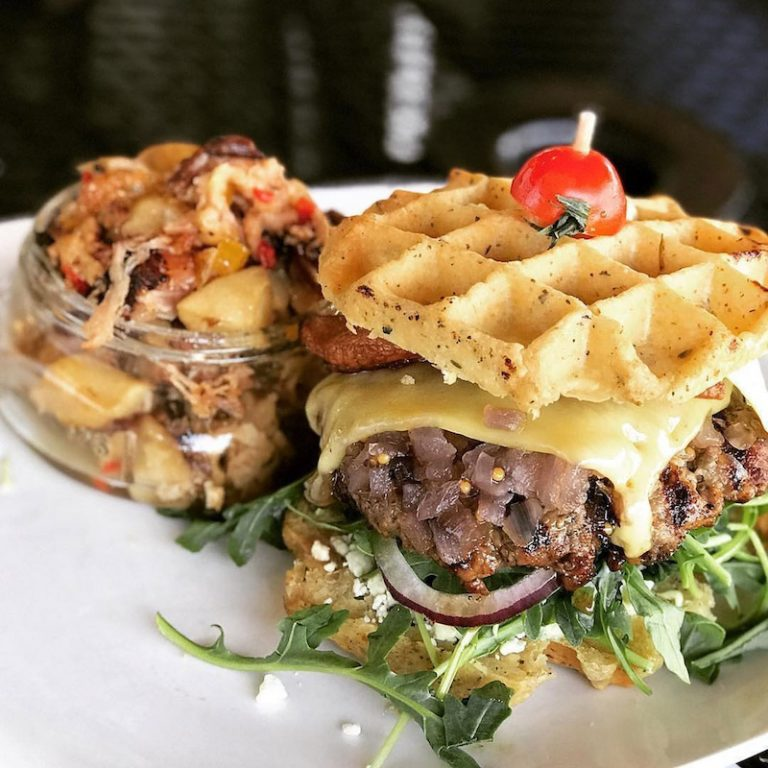 Waffle burgers, waffle salads, even a waffle filet are coming to the Works next summer