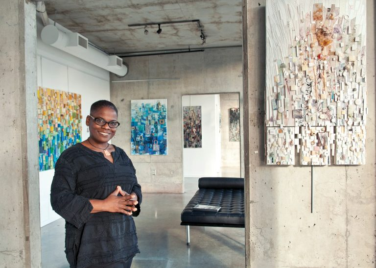 "Atlanta artist Lillian Blades's three-dimensional ""quilts"" tell the story of her life"